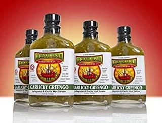 HOT LINE PEPPER PRODUCTS Gourmet Hot Sauces (Garlicky Greengo, 4 pack)