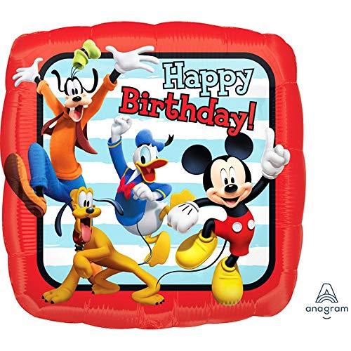 Anagram - Palloncino Quadrato con i Personaggi Disney Happy Birthday (Taglia Unica)