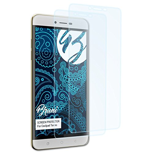 Bruni Schutzfolie kompatibel mit Coolpad Torino Folie, glasklare Bildschirmschutzfolie (2X)