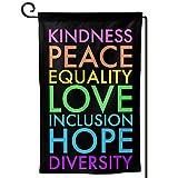 AIJEESI Kindness Peace Equality Love Inclusion Hope Diversity Garden...