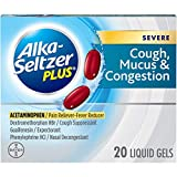 Alka-Seltzer Plus Severe Cough, Mucus and Congestion Liquid Gels, 20 Count