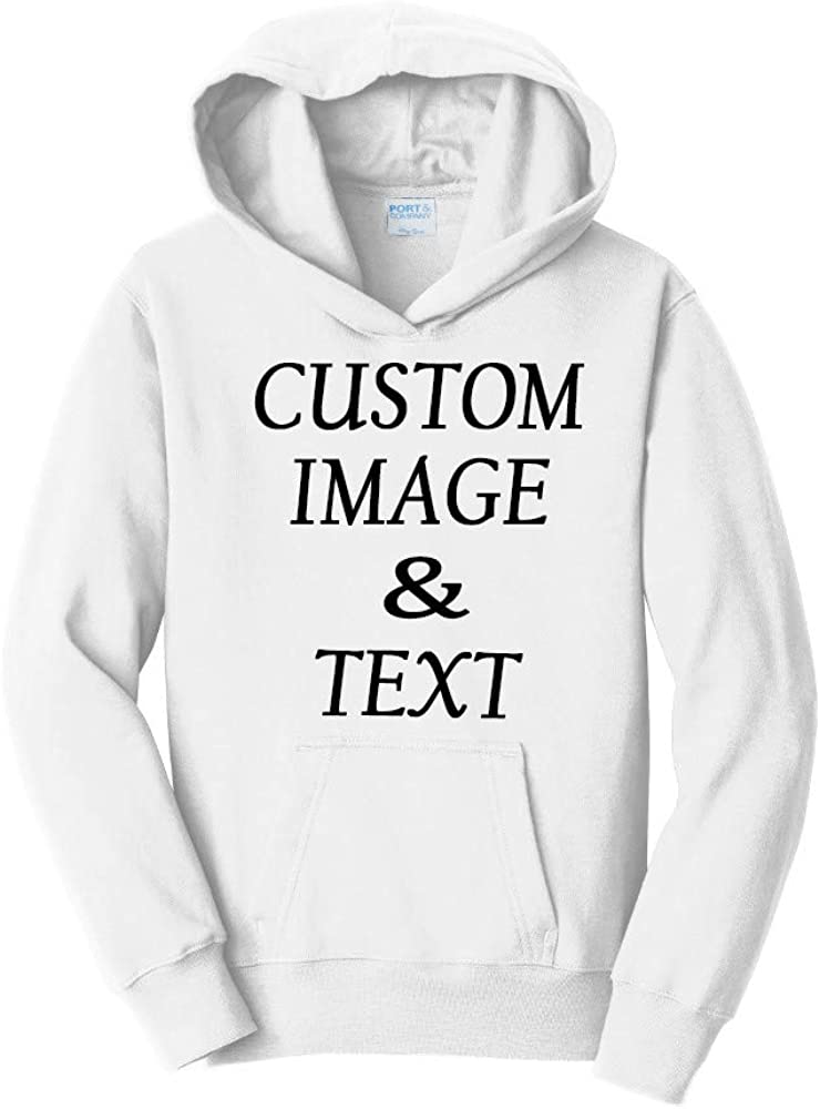 Personalize and Design Your Own Youth Custom Hooded Pullover, Upload Image Type Text, Custom Gifts