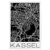 artboxONE Poster 30x20 cm Städte Retro Map of Kassel
