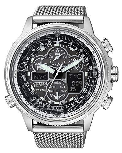 [シチズン] 腕時計 プロマスター エコ・ドライブ電波時計 クロノグラフ 特定店取扱モデル JY8030-83E メンズ シルバー