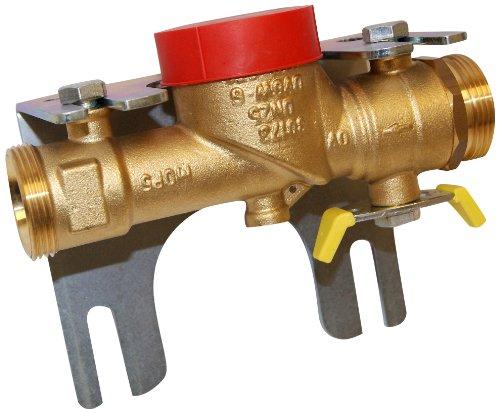 Oventrop 3017342 Kugelhahn für Einrohrzähler DN 25 1 DG Wandabstand 70-130 mm