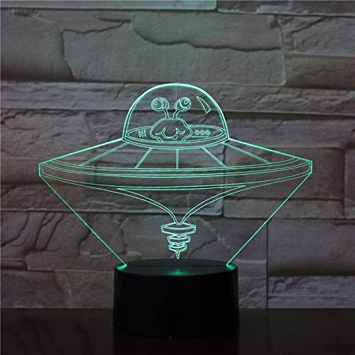 Nuevas Luces OVNI Nave Espacial Nave Espacial Color Luces nocturnas Juguetes para niños Mesa Toque Creativo Cumpleaños Fresco