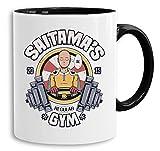 Saitama Gym - vaso cafetera regalo Mug Son One Punch Luffy Naruto Saitama One Dragon Goku Ball Piece Man Db, Farbe2:Blanco