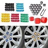 BESTEU 17mm Universal Car Tire Crack cap Decorative Plastic Shell Nut Protection Tool