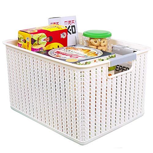 JMYDecor - Multiuso Cesto Confezione da 4 cestini portaoggetti in plastica, in tessuto, per cucina, bagno e armadietti, 31 x 22,7 x 17,5 cm