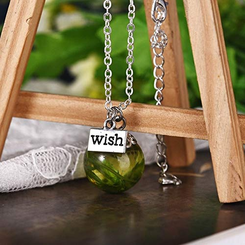 KDYSMWD Handmade Dandelion Resin Transparent Pendant Necklace Wedding Gift Jewelry