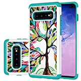 Ueokeird Cute Case for Samsung S10 Plus, Galaxy S10+ Plus Case for Girls Women, Shockproof Defender Heavy Duty Phone Cover Cases for Samsung Galaxy S10 Plus (2019) (Luck Tree)