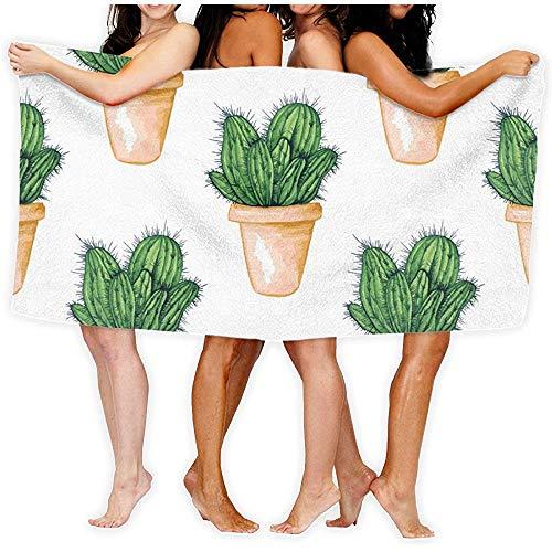 Jesse Tobias Mexikanischer essbarer Kaktus oder Kakteen für Strandtücher Cinco De Mayo, Badetuch, Reise-Strandtuch, Kissen-Tuch, Schwimmen-Sport-Handtuch im Freien