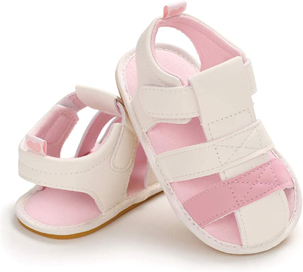 E-FAK Baby Boys Girls Summer Sandals Outdoor Beach Anti-Slip Rubber Soft Sole Newborn Toddler First Walker Shoes