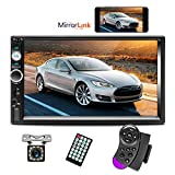 Double Din Car Stereo 7 Inch Touch Screen Radio Bluetooth FM Receiver With