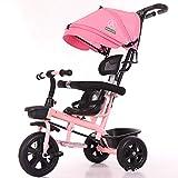 KPTKP del Triciclo para Adultos Triciclo Triciclo del bebé niños Triciclo 4 en 1 Cochecito Desmontable Canopy El 3 Ruedas,D
