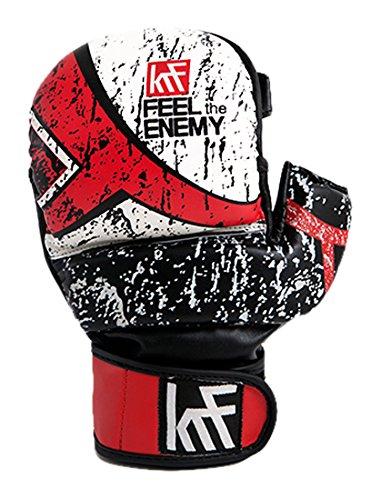 KRF Feel The Enemy Gel Super Eva 7oz Box-Handschuhe, Unisex Erwachsene M Schwarz