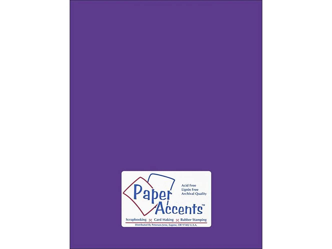 Accent Design Paper Accents Cdstk Smooth 8.5x11 74# Concord Grape