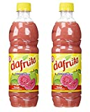Dafruta Guava Concentrate Juice 16.9 Fl.Oz.   Suco de Goiaba Concentrado 500ml (Pack of 02)