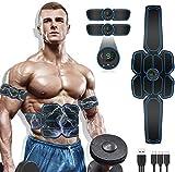 MATEHOM Electroestimulador Muscular Abdominales, Masajeador Eléctrico Cinturón con USB, Estimulación Muscular Masajeador Eléctrico Cinturón Abdomen/Brazo/Piernas/Glúteos