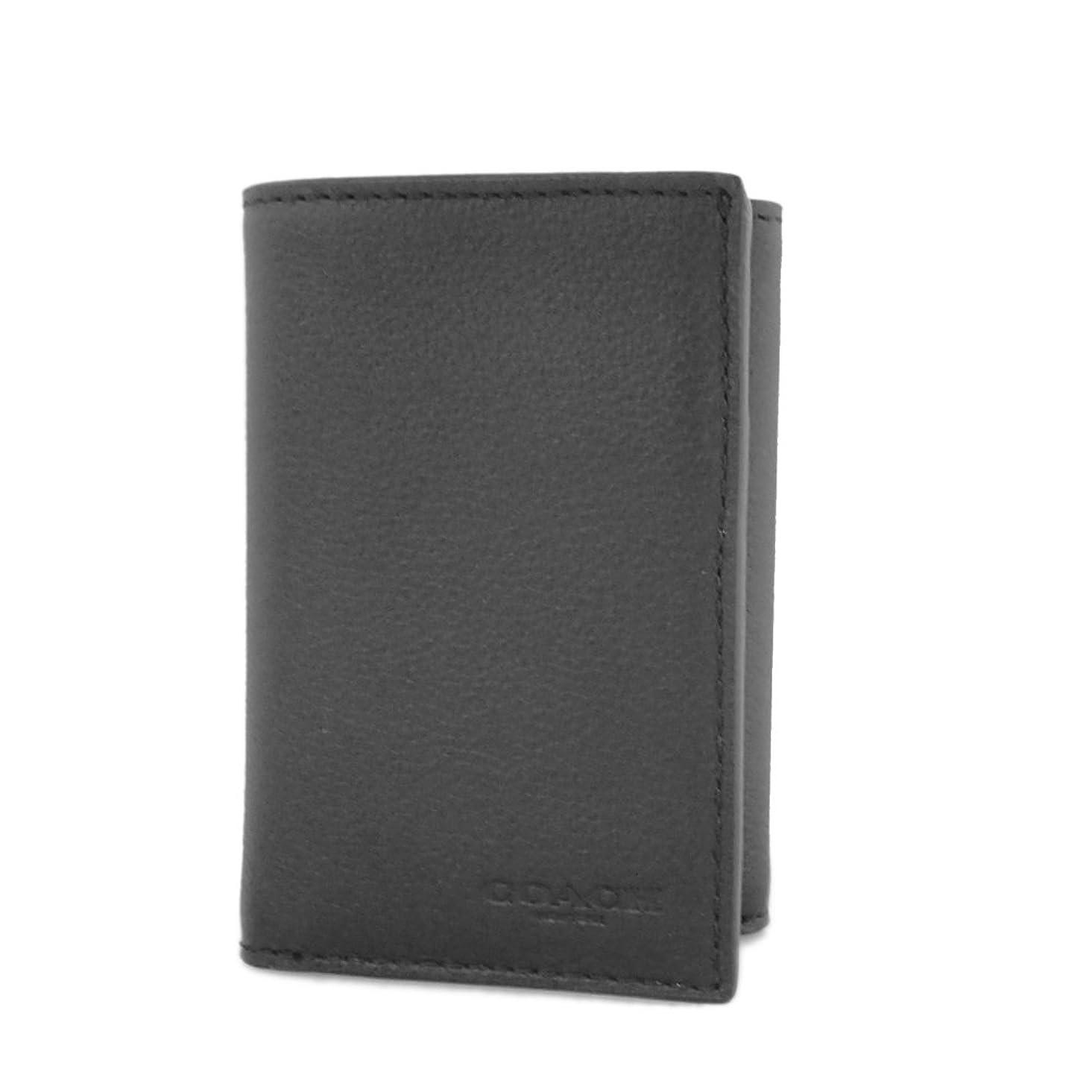 性差別閲覧する視線コーチ 財布 三つ折り財布 カードケース メンズ ブラック系 レザー F23845 [並行輸入品]