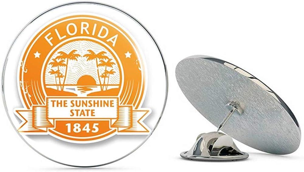 Florida USA Round Metal 0.75