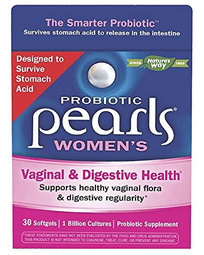 Nature's Way - Probiotic Pearls Women's Vaginal & Digestive Health 1 Billion CFU - 30 Cápsulas gelatinosas