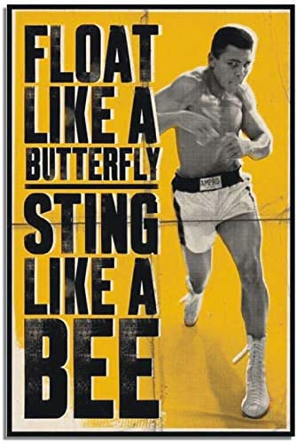 Muhammad Ali Poster Aluminium Metal Sign Door Plaque Wall Boxing Butterfly Cassius Clay Sting product image