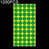 WXX 1000 PCS Forma Redonda Autoadhesiva Etiqueta de Marca Colorida Etiqueta de Marca (Negro) (Color : Green)