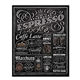 'Guide To Starbucks-Expresso'- Coffee Recipe Sign- Vintage Chalkboard Replica Print- 8 x 10' Wall Art- Ready to Frame. Home Décor-Coffee Decor-Kitchen Wall Decor. Perfect for Coffee Bars & Cafes.