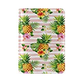 ALAZA Palm Tree Pineapple Hibiscus Flower Leather Passport Holder Cover Case Travel One Pocket