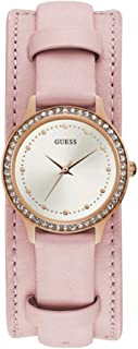 Guess Womens Quartz Watch, Analog Display and Leather Strap - W1150L3