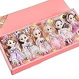 AXB 6 Piezas BJD Doll, 16cm/6pulgadas Muñeca Princesa 13 Articulaciones Móviles Muñecas con Zapatos de Falda, Regalo para Niñas y Niños