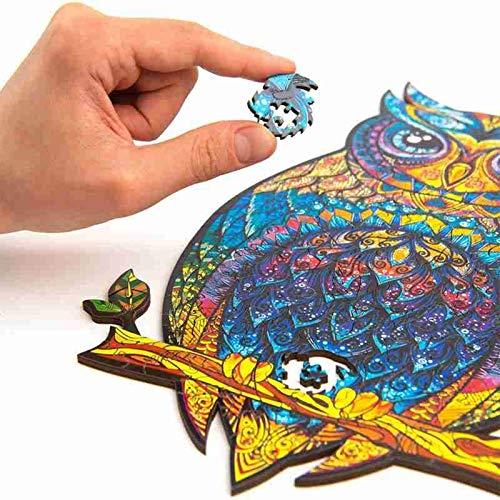 PUTOWUT Puzzle in Legno di Animali Misteriosi, Puzzle con Forma Unica Puzzle, con Forme Animali Colorati 3D per Bambini e Adulti per Famiglie Decorazione Natalizia di Capodanno