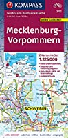 Grossraum-Radtourenkarte Mecklenburg-Vorpommern. 1:125000, GPX-Daten zum Download