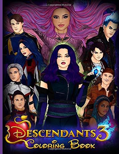 Descendants 3 Coloring Book: JUMBO Descendants 3 Adults Coloring Books