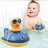 CESHMD Juguetes de baño para bebés, Juego de bañera, Juguetes de Agua para niños, Juego de Ducha de baño, Juguete para bebés, niños y niñas (Manta Ray)