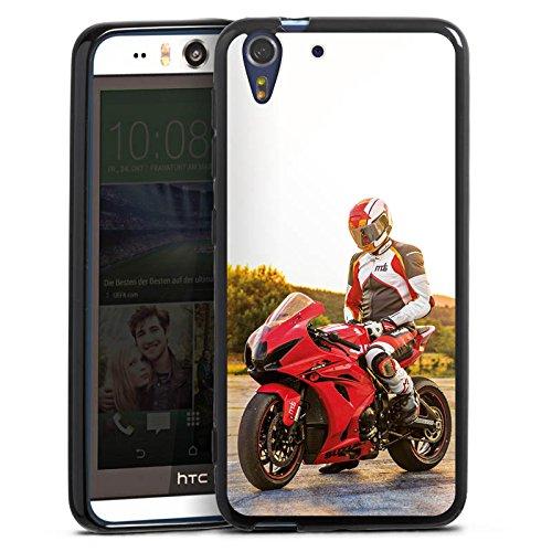 Silikon Hülle kompatibel mit HTC Desire Eye Hülle schwarz Handyhülle YouTube Motorrad Motorsport