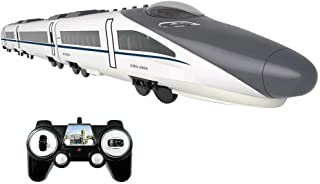 HomeTown-US RC Train Model,Train Set Electric Train High-Speed Rail Train Set Railway Track Sets Rc Train Model Rc Car with 2.4G Remote Control Switch Door and The Voice Broadcast to The Station