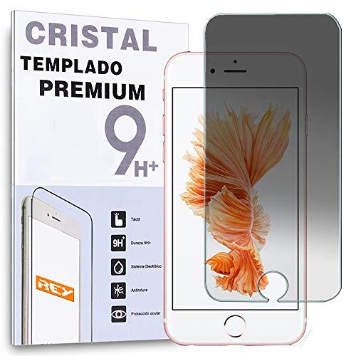 REY Protector de Pantalla Anti ESPÍA para iPhone 6 / 6S, Cristal Vidrio Templado Premium