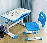 AJH Kinder Tisch- und Stuhlset Kinderschreibtisch und Stuhlset mit maximaler Aufbewahrungskapazität Höhenverstellbarer Schulschreibtischstuhl für 4 bis 17 Jahre Ergonomisches Desig