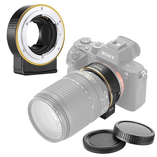 Neewer Electronic AF Lens Mount Adapter Auto Focus Aperture Control Compatible with Nikon f Lens to Sony E-Mount Cameras for Sony A9M2/A9/A7R4/A7R3/A7R2/A7M3/A7M2/A6600/A6500/A6400/A6300/A6100