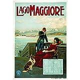 Wsxyhn Lago Maggiore Travel Italy Landschaftsbild Leinwand