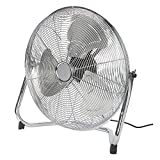 """18"""" Chrome Gym Floor Standing Fan with 3 Speeds and 120 Degrees Vertical"""
