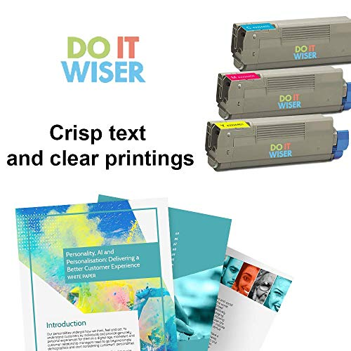 Do it Wiser Compatible High Yield Toner Cartridge Replacement for Oki C5500 C5500N C5500DN C5800 C5800N C5800DLN C5900 C5900N Cyan Photo #4