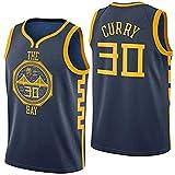 BeKing NBA Stephen Curry Jerseys - Golden State Warriors NO.30 Camiseta de Jugador de Baloncesto Tela Bordada Camiseta de Fan para Hombre
