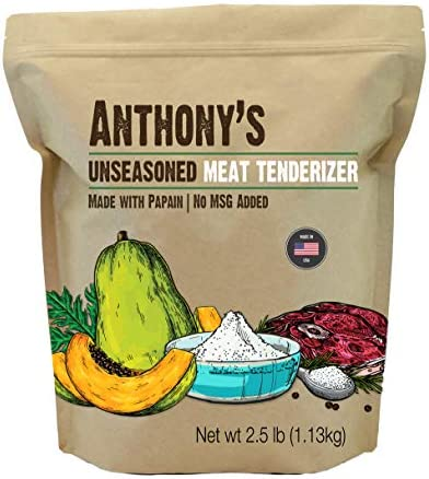 Anthony s Meat Tenderizer with Papain 2 5lb Made in USA No MSG Added product image