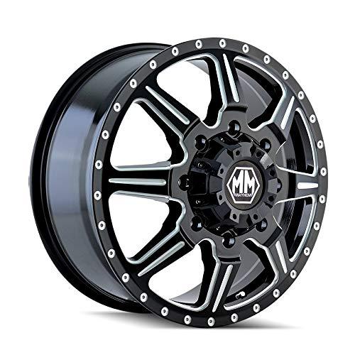 MAYHEM MONSTIR (8101) BLACK Wheel with Front Milled Spokes (0 x 6.75 inches /8 x 210 mm, 102 mm Offset) -  8101-9679MF