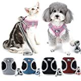 Zunea Small Dog Harness and Leash Set No Pull Reflective Puppy Cat Vest Harness Escape Proof for Walking Soft Mesh Step-in Esay on for Pet Chihuahua Puppies Boy Girl Pink S