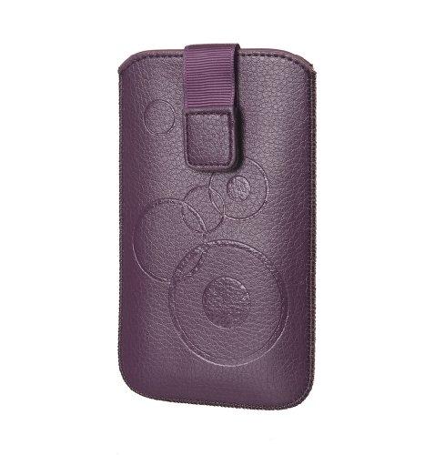 Handytasche Circle für Wiko Rainbow Handy Etui Schutz Hülle Cover Slim Case violett (lila) mit Klettverschluss