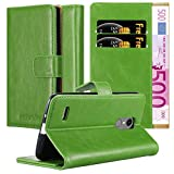 Cadorabo Book Case works with LG K8 2017 in GRASS GREEN -